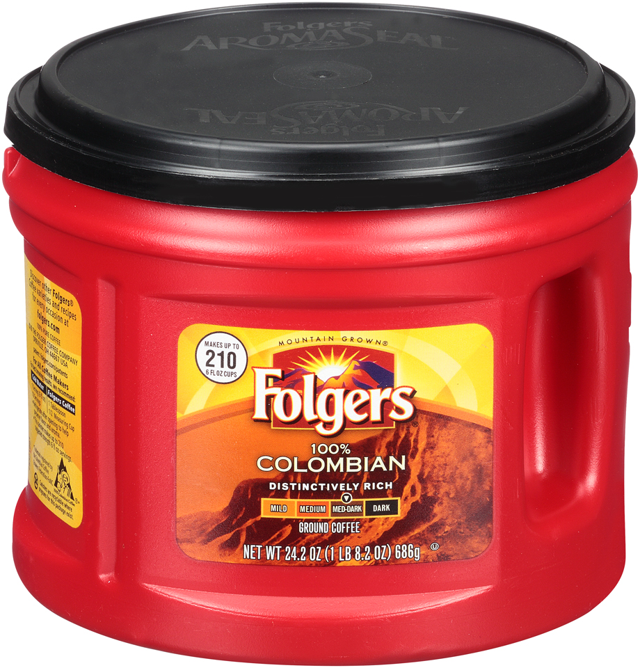 Folgers® 100% Colombian Med-Dark Ground Coffee 24.2 Canister