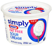 Simply Kraft Light Sour Cream 16 oz Plastic Tub