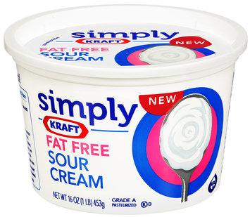 Simply Kraft Light Sour Cream 16 oz Plastic Tub