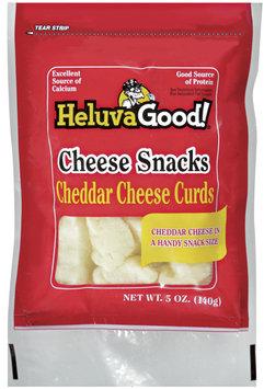 HELUVA GOOD Cheddar Cheese Curds Cheese Snacks 5 OZ PEG