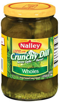 Nalley® Crunchy Kosher Dill Wholes Pickles 24 fl. oz. Jar