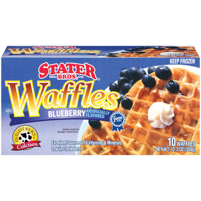 Stater Bros. Blueberry Waffles 10 Ct Box