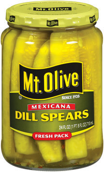 Mt. Olive Dill Spears Mexicana Fresh Pack Pickles 24 Oz Jar