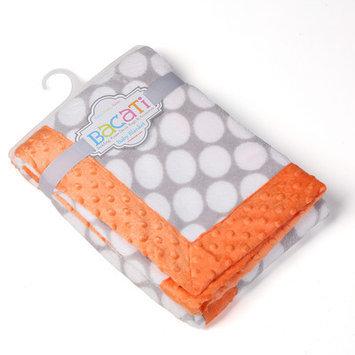 Bacati Playful Fox Dots Border Blanket