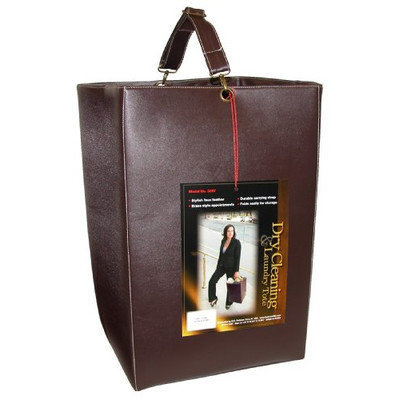 Redmon 3687-Faux Leather Foldable Dry Cleaning Tote in Dark Chocolate
