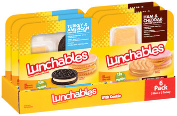 Lunchables Ham & Cheddar/Turkey & American Cracker Stackers Lunch Combination Variety Pack 6 ct Trays