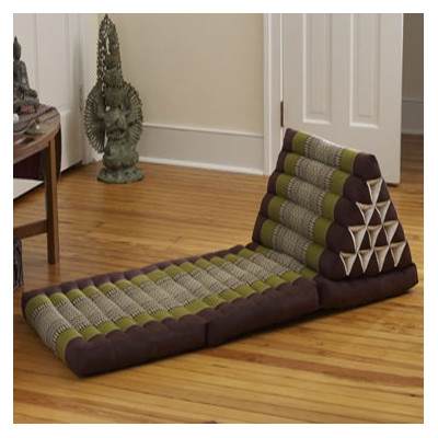 My Zen Home Triangle Lounger Color: Sage / Brown