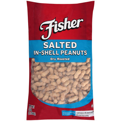 Fisher® Salted In-Shell Peanuts Dry Roasted 5 lb. Bag