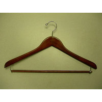 Proman GMC8819 Suit Hanger with Lock Bar Light Walnut