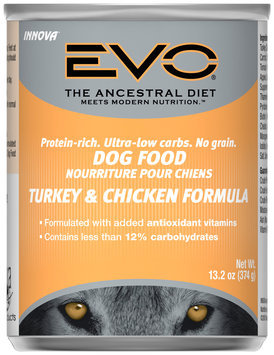 EVO Turkey & Chicken Formula Dog Food 13.2 oz. Can