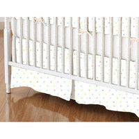 Stwd Pastel Pindots Woven Crib Skirt Color: White