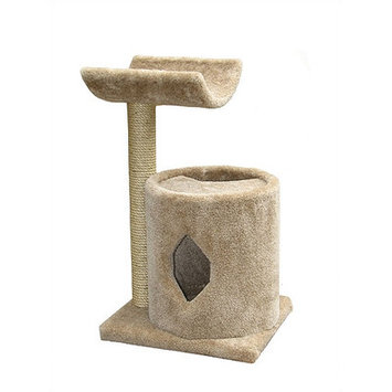 Molly and Friends 36 Tan Two-Tier Cat Scratching Post