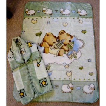 Home Sensation Baby Snuggle and Baby Blanket Set 2 Pieces Color: Green