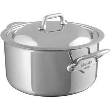 Mauviel Cookware M'Cook Stainless Steel Stewpan with Lid
