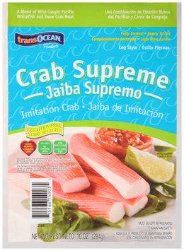 Trans-Ocean® Crab Supreme Leg Style Imitation Crab 10 oz.