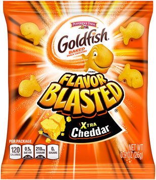Pepperidge Farm® Goldfish® Flavor Blasted® Xtra Cheddar Baked Snack Crackers 0.9 oz. Pack