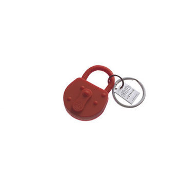 Areaware Lock Keychain Color: Red