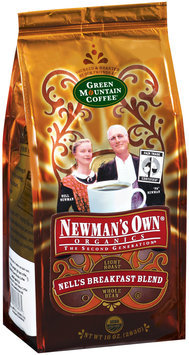 Newman's Own Organics Nell's Breakfast Blend Light Roast Whole Bean Coffee 10 Oz Stand Up Bag