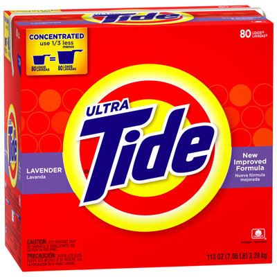 Tide Ultra Lavender Scent Powder Laundry Detergent 113 oz. Box
