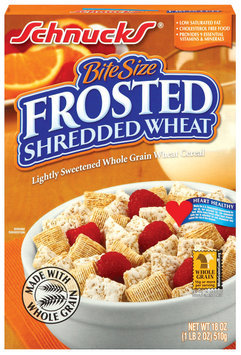 Schnucks Bite Size Frosted Shredded Wheat Cereal 18 Oz Box