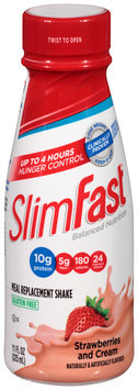 SlimFast™ Balanced Nutrition Strawberries and Cream Meal Replacement Shake 11 fl. oz. Bottle