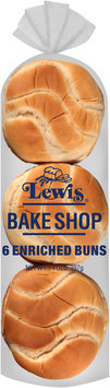 Lewis® Bake Shop Hamburger Enriched Buns 14 oz. Bag