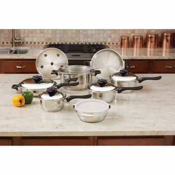 Chefs Secret Chef's Secret 15pc 9-Element Stainless Steel Cookware