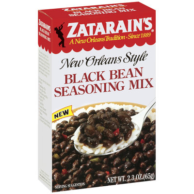 Zatarain's® Black Bean Seasoning Mix 2.3 oz. Box