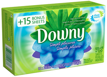 Downy® Simple Pleasures Sage Jasmine Thrill Fabric Softener Sheets 120 ct Box