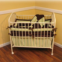 Ozark Mountain Kids Chocolate Mint Porta 4 Piece Crib Bedding Set