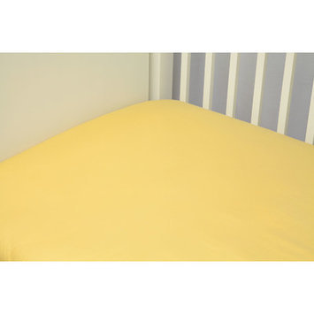 Riegel Cotton Solid Crib Sheet Color: Yellow