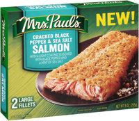 Mrs. Paul's® Cracked Black Pepper & Sea Salt Salmon Fillets 2 ct Box