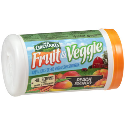 Old Orchard® Fruit & Veggie Peach Mango Juice Blend from Concentrate 12 fl. oz. Canister