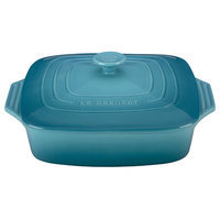Le Creuset Stoneware 2.75-Qt. Covered Square Casserole Color: Caribbean