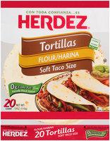 Herdez® Flour Soft Taco Size Tortillas 18 oz. Bag
