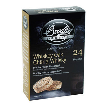Bradley Smoker BTWOSE24 Whiskey Oak Bisquettes 24-Pack
