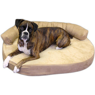 Integrity Bedding Orthopedic Memory Foam Joint Relief Bolster Dog Bed Color: Licorice, Size: Large (42