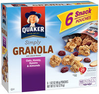 Quaker® Simply Granola Oats, Honey, Raisins & Almonds 6 ct Box