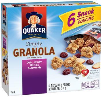 Quaker® Simply Granola Oats, Honey, Raisins & Almonds 6 ct Box