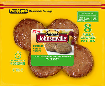 Johnsonville® Fully Cooked Turkey Breakfast Sausage 9.6 oz. Pack