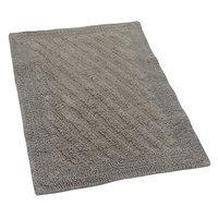 Textile Decor Castle 100% Cotton Shooting Star Reversible Bath Rug, 40 H X 24 W, Stone