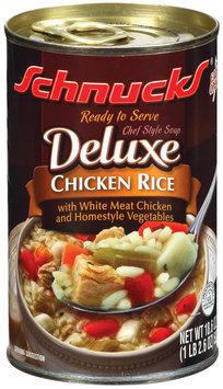 Schnucks Deluxe Chicken Rice Soup 18.6 Oz Can