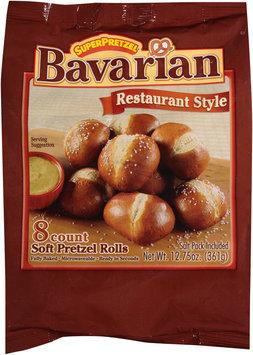 SuperPretzel® Bavarian Soft Pretzel Rolls 12.75 oz. Bag