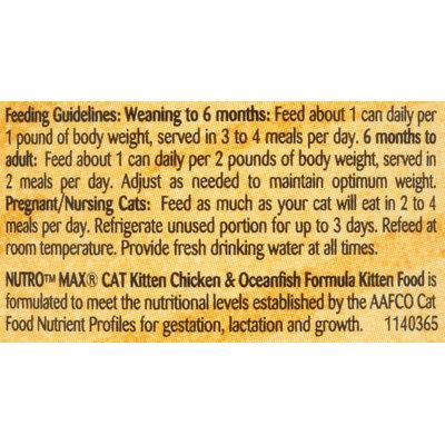 Nutro® MAX® CAT Kitten Chicken & Oceanfish Formula Cat Food 3 oz. Can