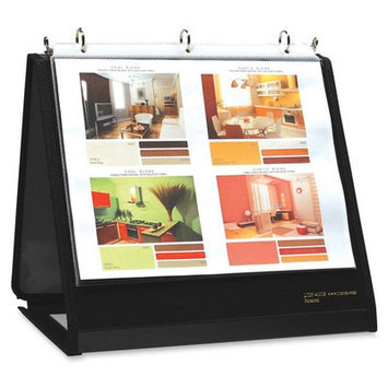 Lion Office Products LIO40008BK Ring Binder Easel- . 75inch Cap- Horizontal- 11inchx8. 50inch- Black