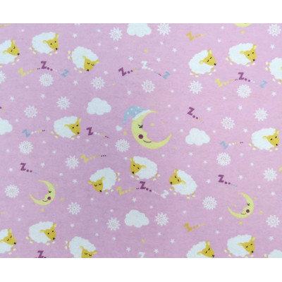Stwd Sleepy Sheep Crib/Toddler Fitted Sheet