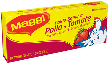 MAGGI Chicken Flavor & Tomato Bouillon Tablets 3.38 oz. Box