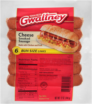 Gwaltney® Cheese Smoked Sausage 6 ct Pack