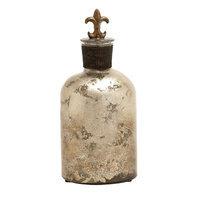 Benzara 66171 Glass Polystone Stopper Bottle