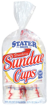 Stater Bros. Strawberry Sundae Cups 6 Cup Bag